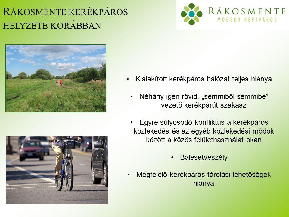 """M ÉRLEG Az elmúlt 7 évben a kerületi kerékpárutak hossza megtízszereződött kerékpáros célokra több mint 500 millió forintot fordítottunk többszáz kerékpártároló hely jött létre kiépültek a kerület első kerékpáros pihenőhelyei évente minimum 4-5 kerékpáros rendezvény került megszervezésre Rákosmente kerékpáros célú civil pályázatokat írt ki a helyi önkormányzat számos bringás rendezvényt támogatott 4 alkalommal lett Rákosmente """"Kerékpárosbarát település"""