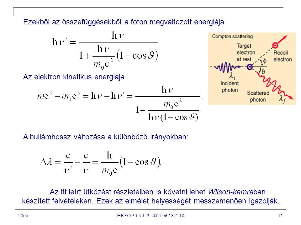 2006 HEFOP 3.3.1-P.-2004-06-18/1.10 11 Az itt leírt ütközést részleteiben is követni lehet Wilson-kamrában készített felvételeken. Ezek az elmélet hel