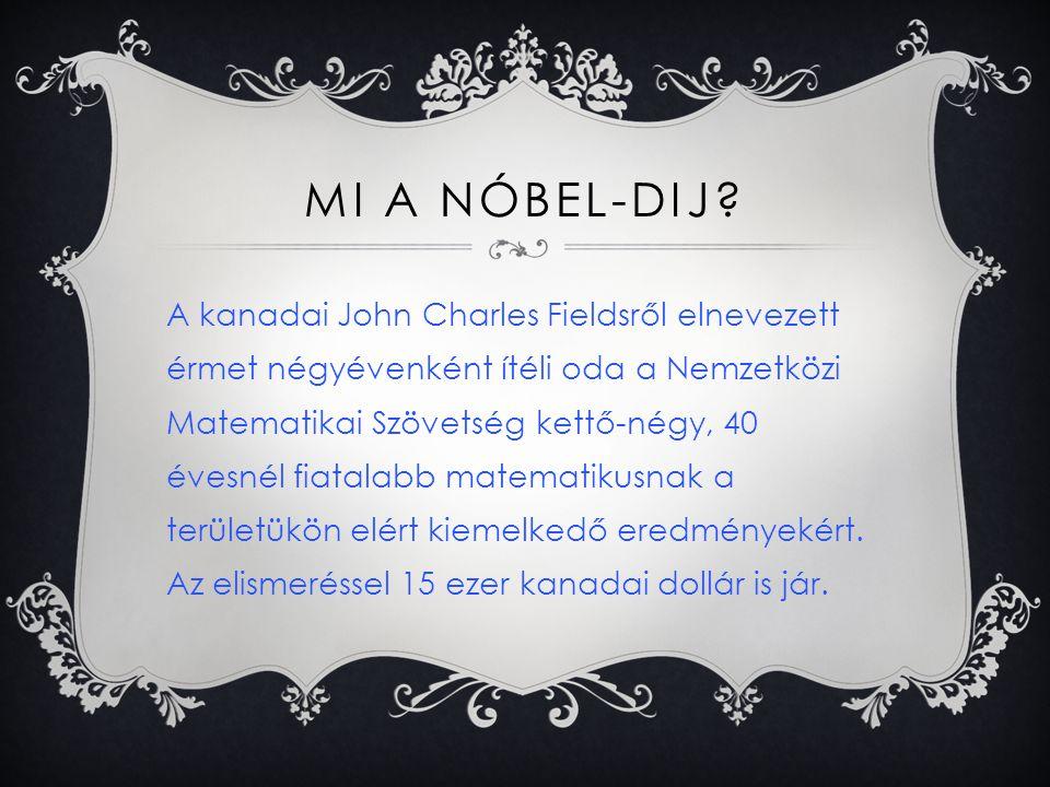 MI A NÓBEL-DIJ.