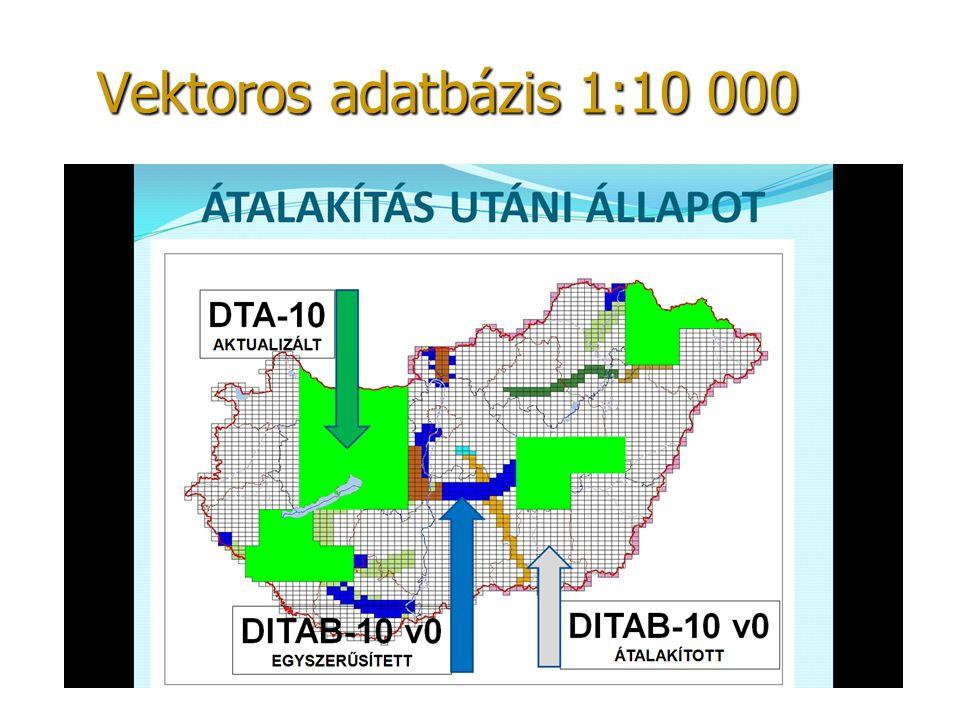Vektoros adatbázis 1:10 000