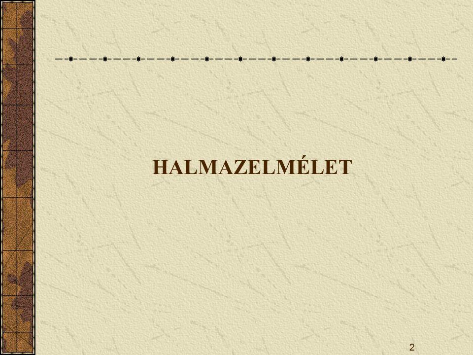 2 HALMAZELMÉLET