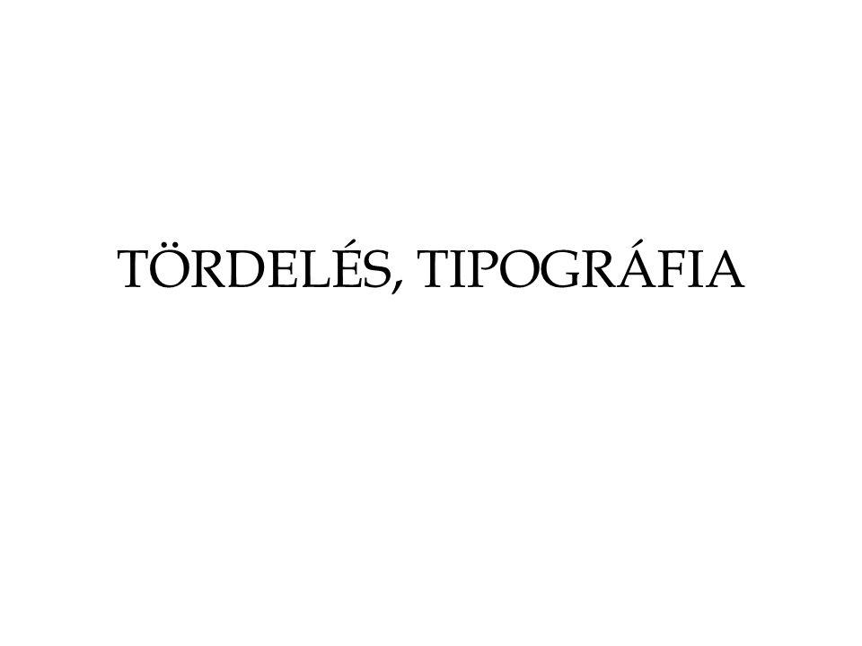 Mi a tipográfia.