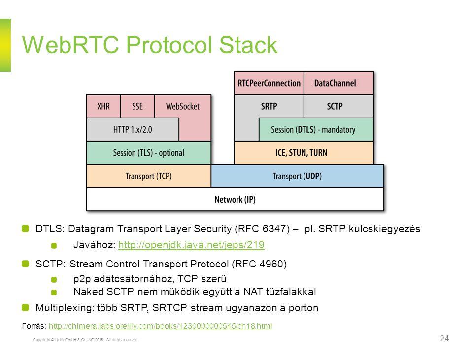 Copyright © Unify GmbH & Co. KG 2015. All rights reserved. 24 WebRTC Protocol Stack DTLS: Datagram Transport Layer Security (RFC 6347) – pl. SRTP kulc