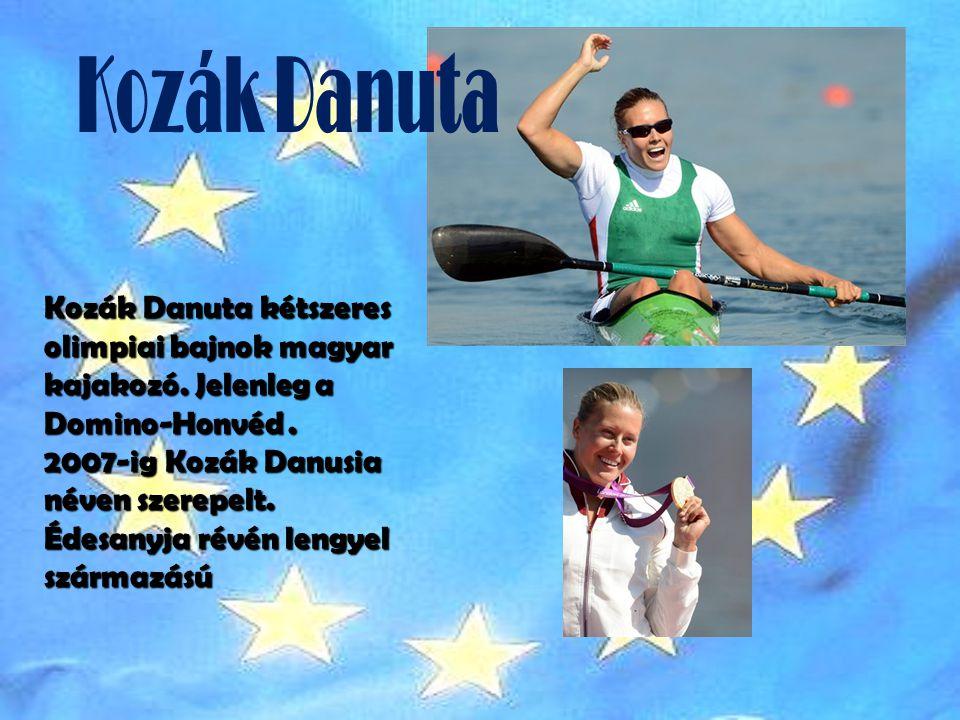 Kozák Danuta kétszeres olimpiai bajnok magyar kajakozó.