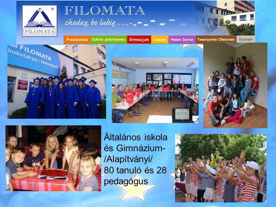 FILOMATA ISKOLA - Gliwice Általános iskola és Gimnázium- /Alapítványi/ 80 tanuló és 28 pedagógus