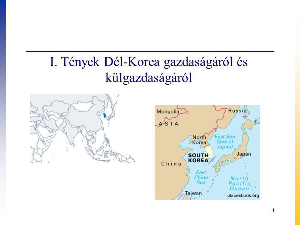 4 I. Tények Dél-Korea gazdaságáról és külgazdaságáról