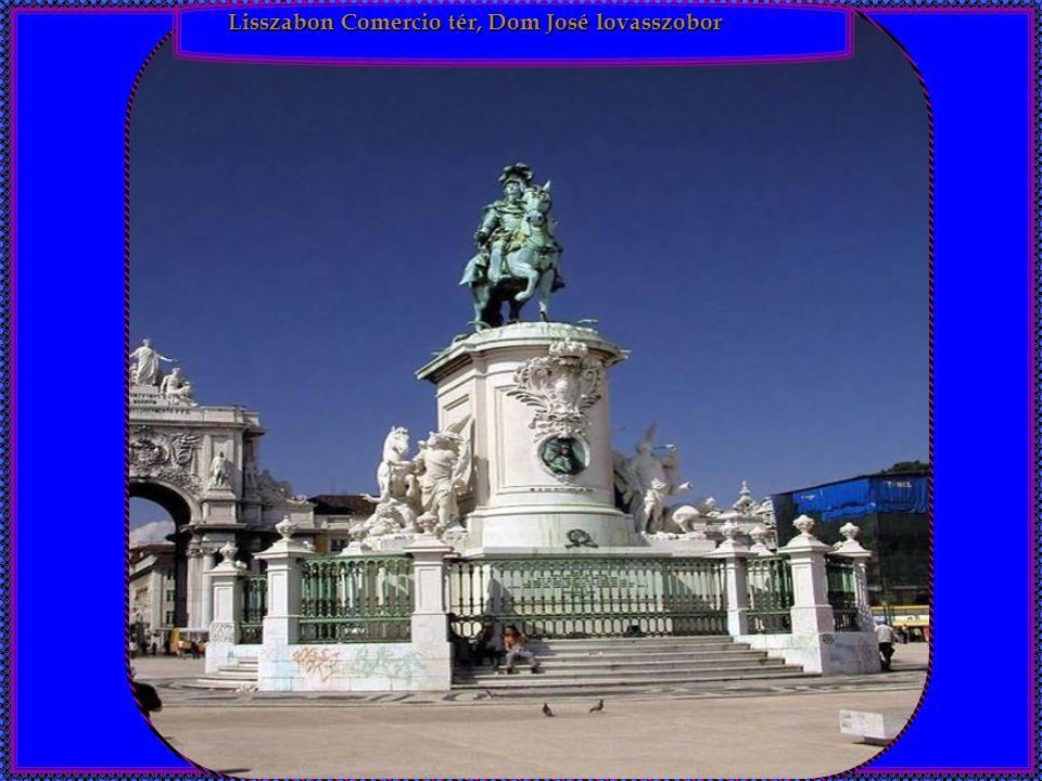 Lisszabon Comercio tér, Dom José lovasszobor