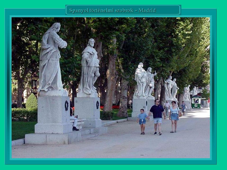 Spanyol történelmi szobrok – Madrid
