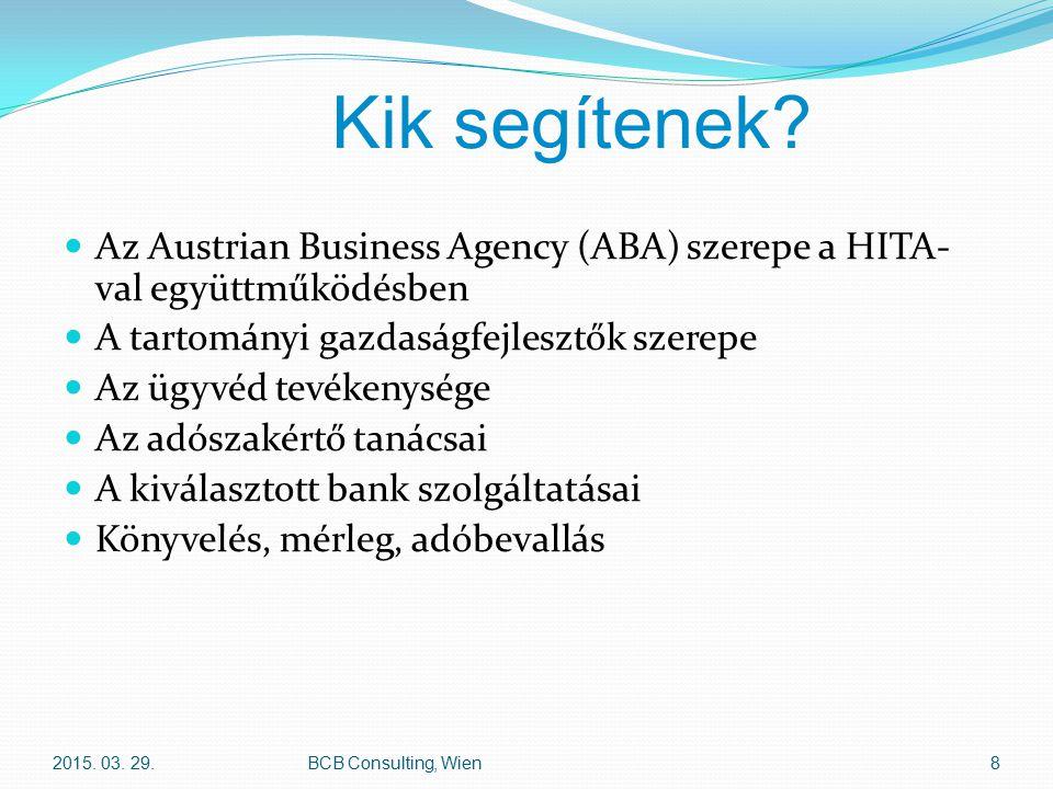 Cégjogi formák e.U.(egyéni cég) OG, KG (Kkt, Bt.) GmbH (Kft.) AG (Rt.) 2015.