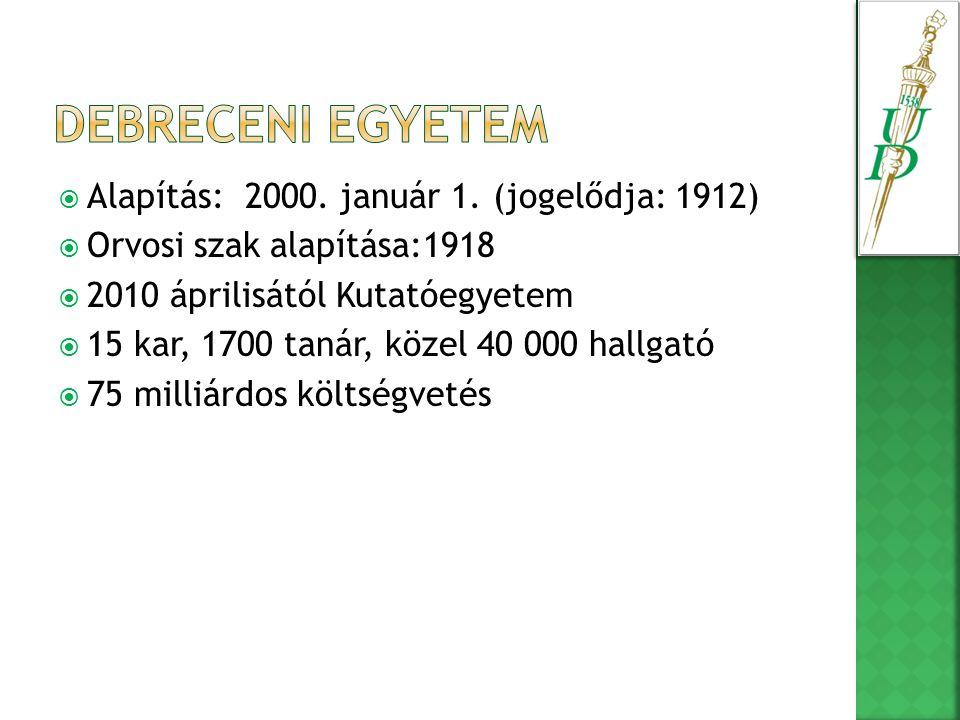  Alapítás: 2000. január 1.