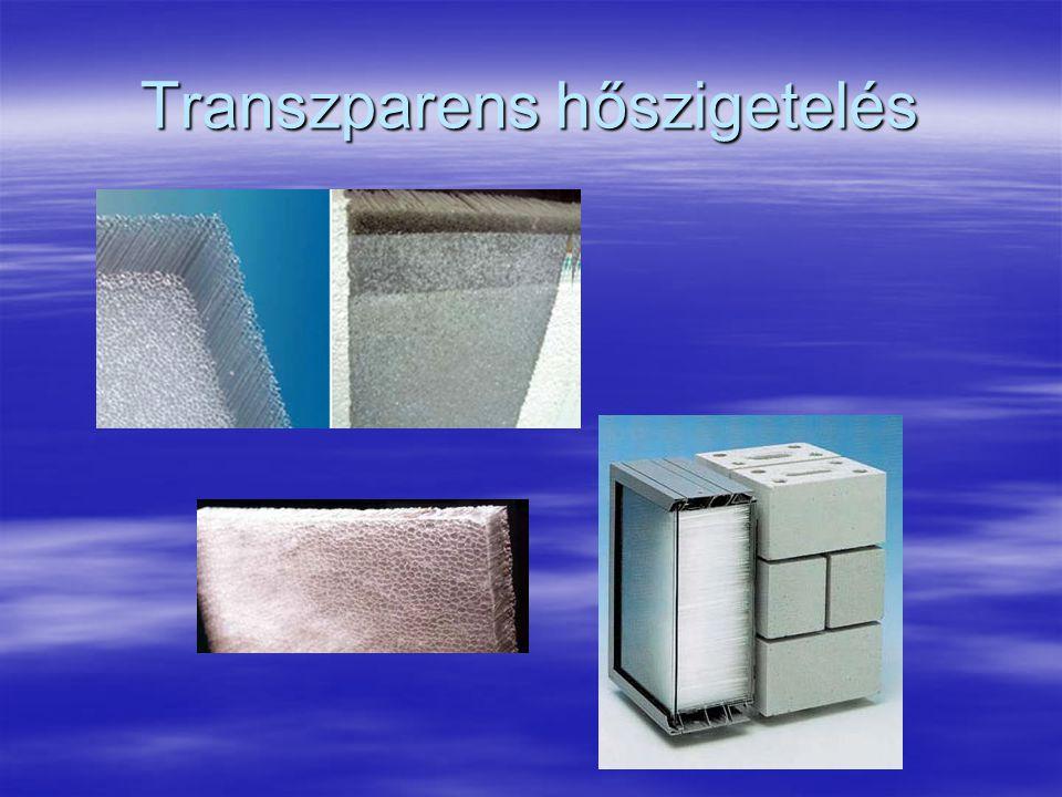 Átlátszó hőszigetelés  A szó szoros értelmében minden átlátszó hővédelem átlátszó hőszigetelésnek számít, így az egyszeres üvegezés is, vagy a műanyag borítás a melegágyon.