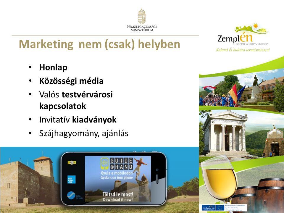 22 Marketing nem (csak) helyben Honlap Közösségi média Valós testvérvárosi kapcsolatok Invitatív kiadványok Szájhagyomány, ajánlás