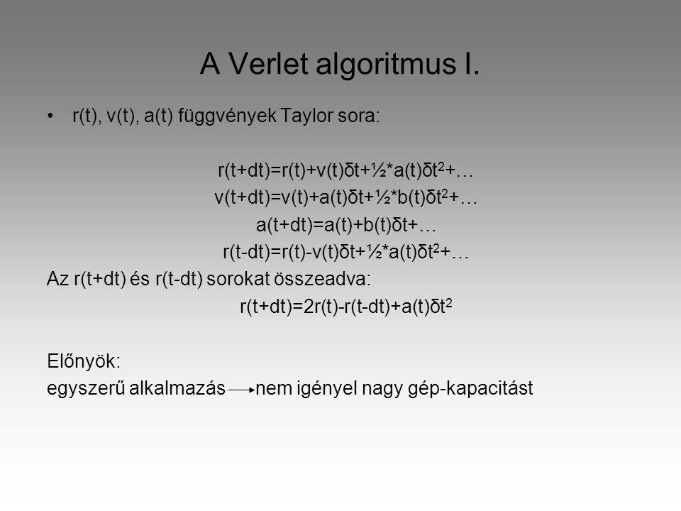 A Verlet algoritmus I.