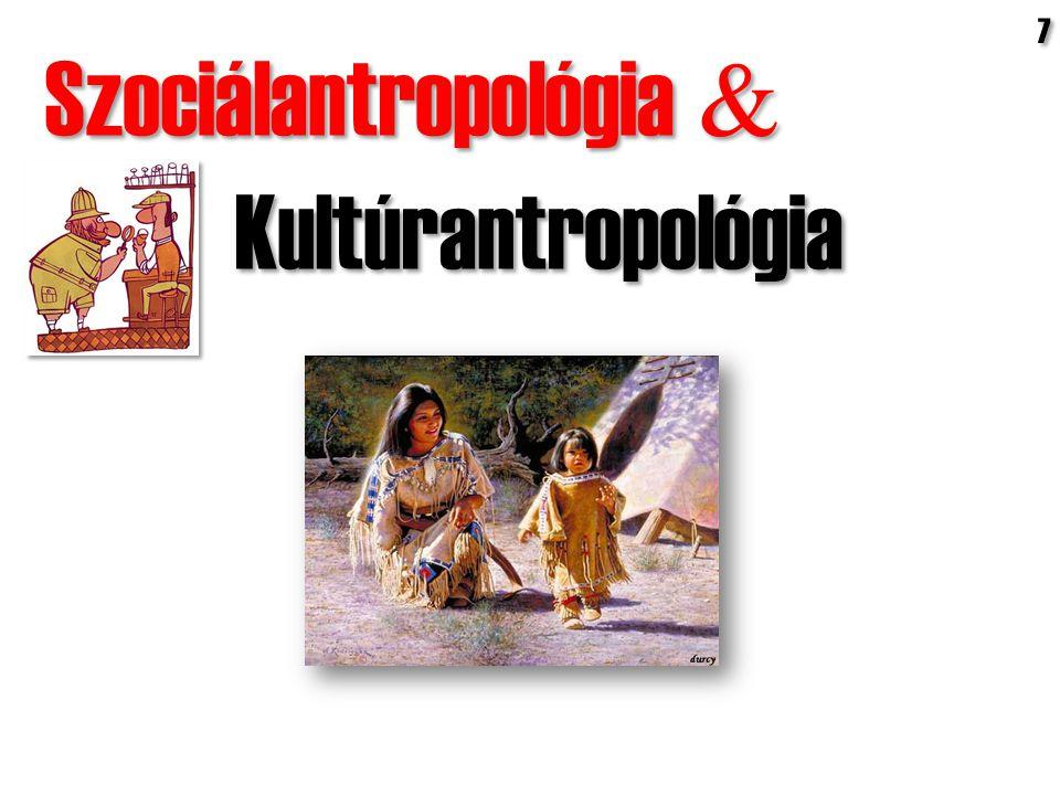Szociálantropológia  Kultúrantropológia Szociálantropológia  Kultúrantropológia 7 7
