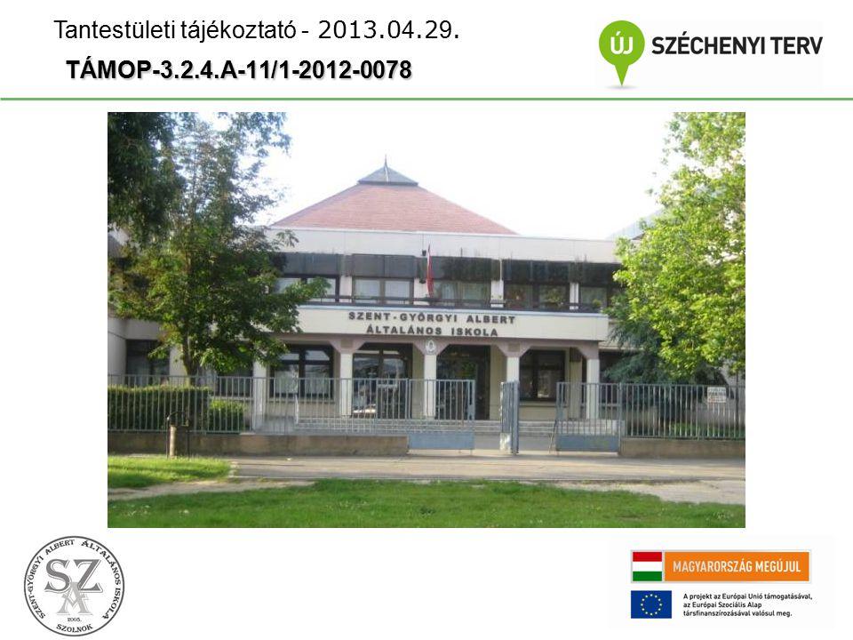 TÁMOP-3.2.4.A-11/1-2012-0078 Tantestületi tájékoztató - 2013.0 4.2 9.