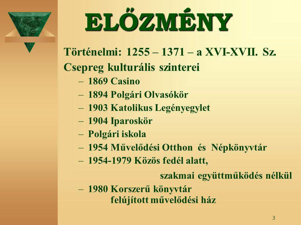 3ELŐZMÉNY Történelmi: 1255 – 1371 – a XVI-XVII.Sz.