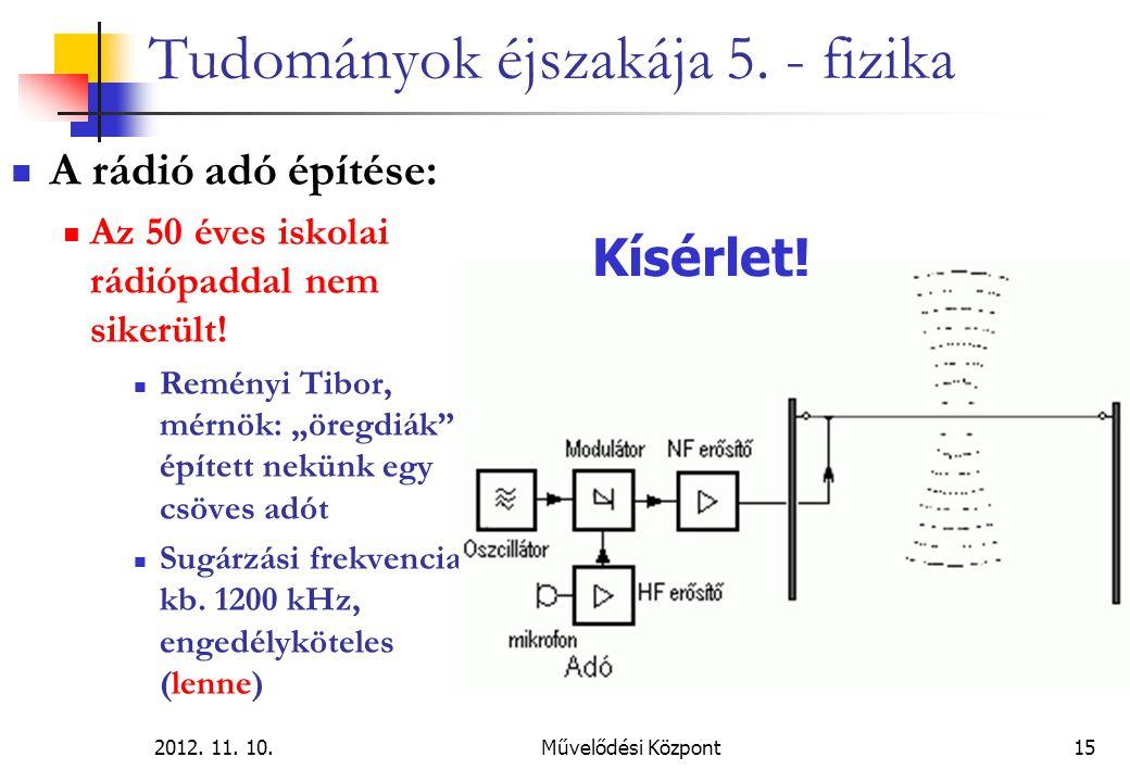 2012.11. 10.Művelődési Központ15 Tudományok éjszakája 5.