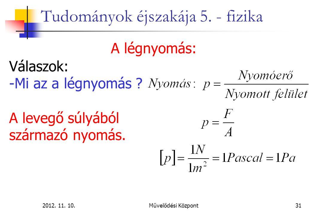 2012.11. 10.Művelődési Központ31 Tudományok éjszakája 5.