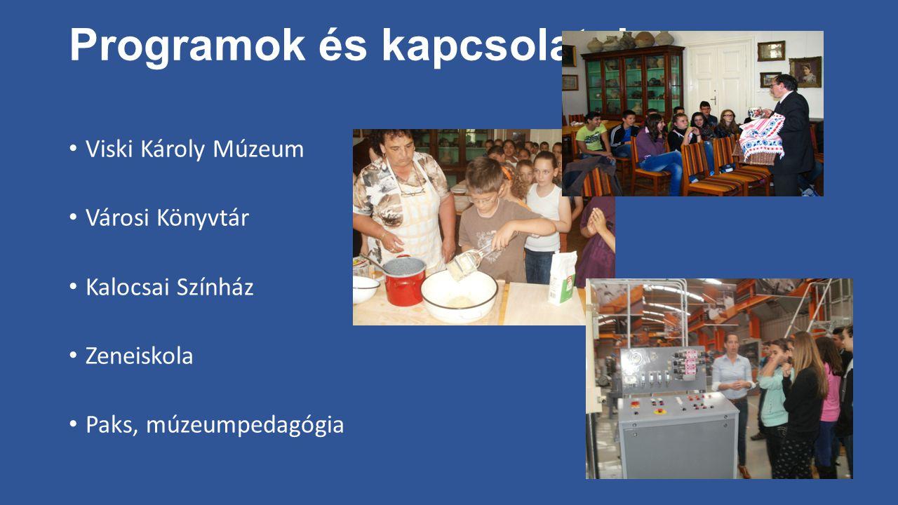 Programok és kapcsolatok Viski Károly Múzeum Városi Könyvtár Kalocsai Színház Zeneiskola Paks, múzeumpedagógia