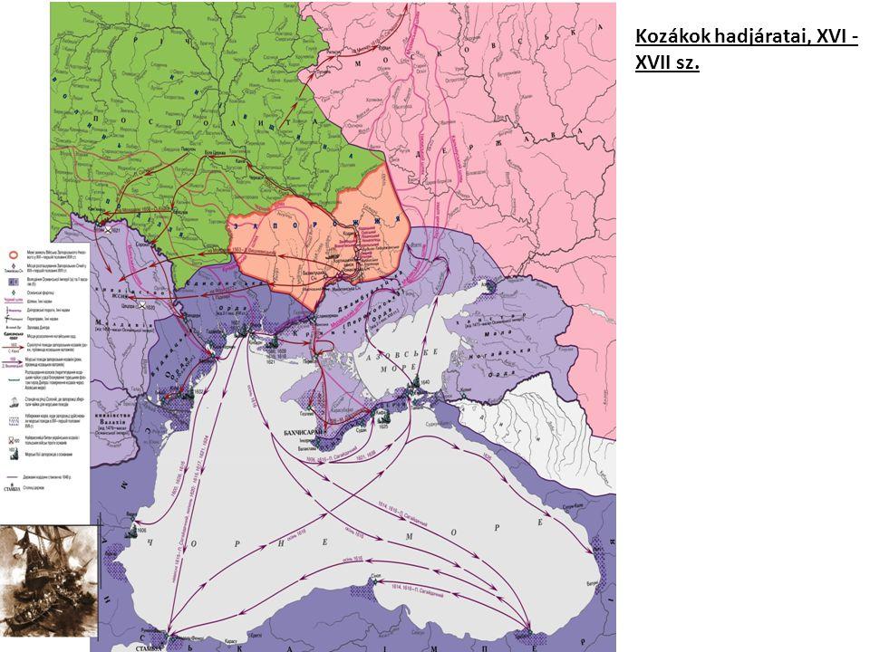 Kozákok hadjáratai, XVI - XVII sz.