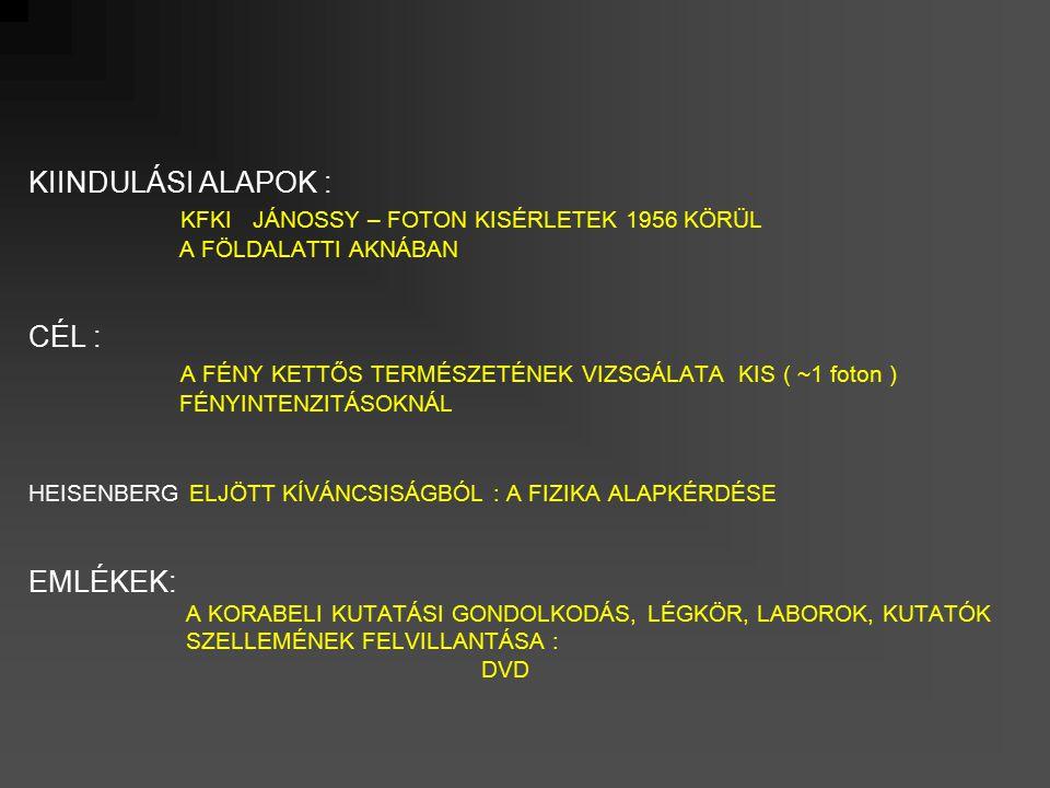 Lézerimpulzusok jellemzőinek alakulása az évek során 196070809020002010 KILOWATT MEGAWATT GIGAWATT TERAWATT PETAWATT EXAWATT 10 3 10 -6 10 -3 10 18 10 15 10 12 10 9 10 6 10 -18 10 -15 10 -12 10 -9 millisec mikrosec attosec femtosec pikosec nanosec teljesítményimpulzus idő MTA – WIGNER FK
