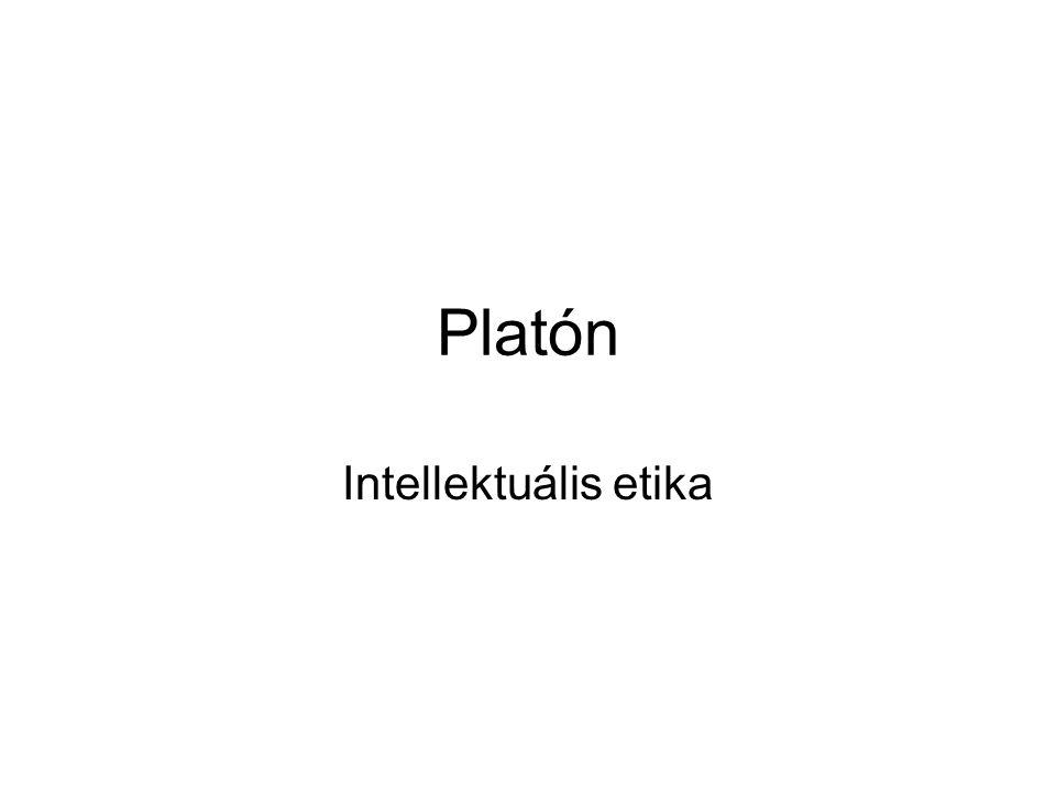 Platón Intellektuális etika