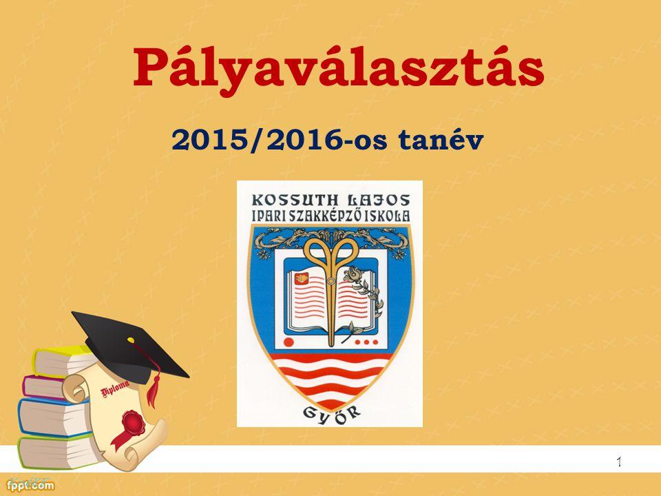 Képzési rendszerünk a 2015/2016-os tanévben 2