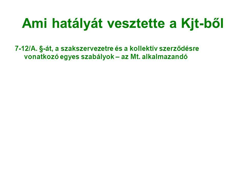 Ami hatályát vesztette a Kjt-ből 7-12/A.
