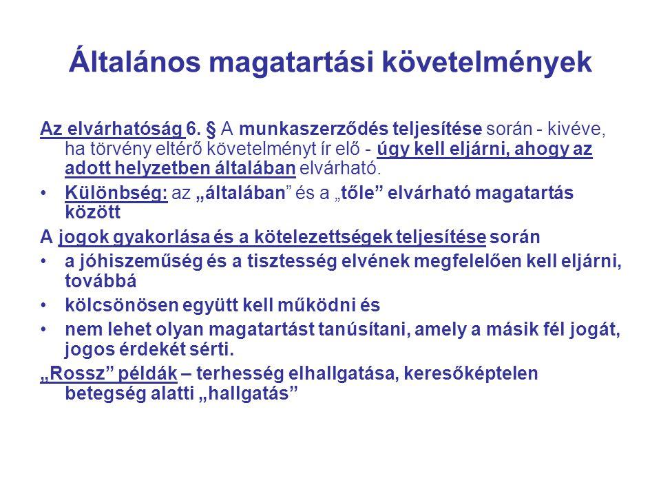 A munkaszerződéstől eltérő foglalkoztatás hatályba lépés 2013.I.1-től 53.