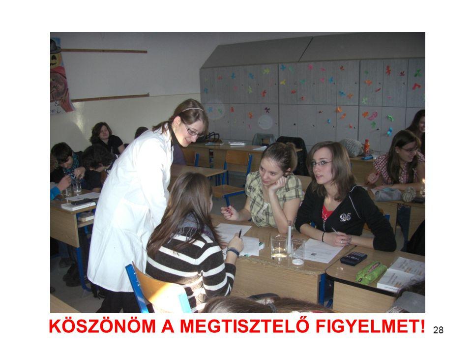 KÖSZÖNÖM A MEGTISZTELŐ FIGYELMET! 28