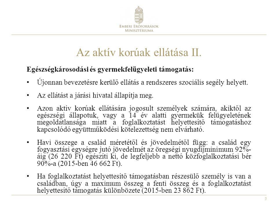 6 Az önkormányzatok által biztosított ellátások I.