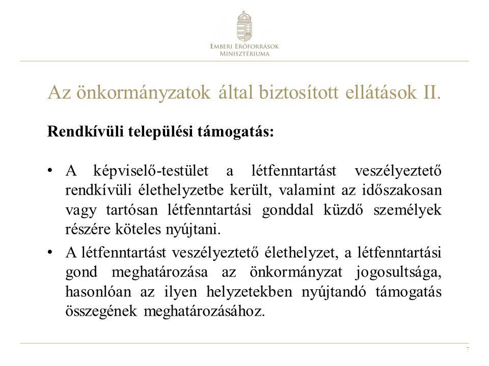 8 Átmeneti szabályok Lakásfenntartási támogatás: a 2014.