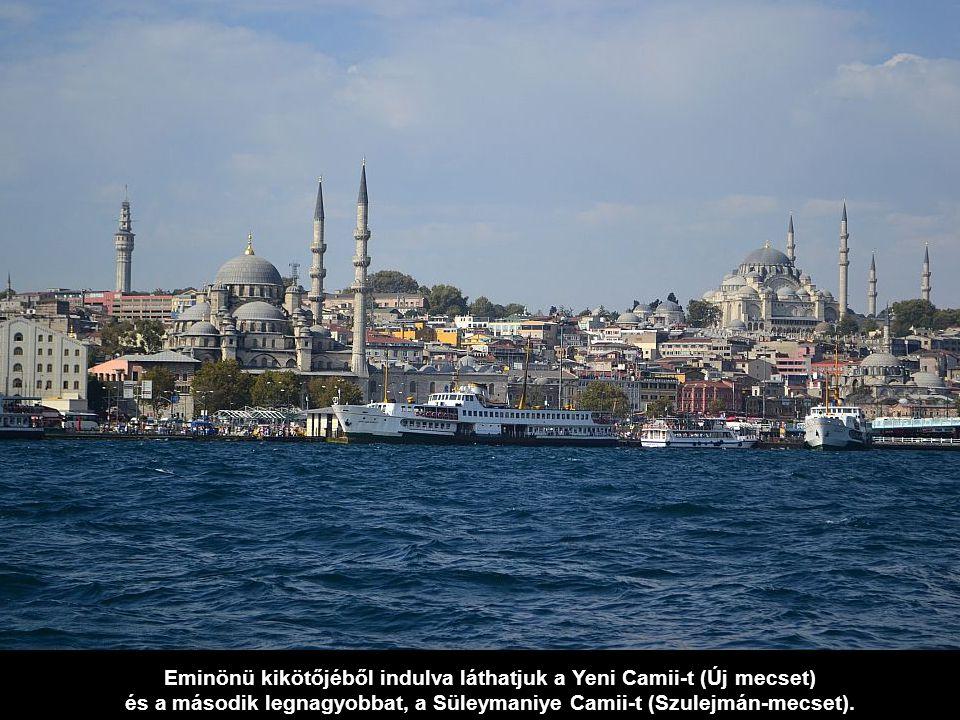 A Boszporusz legszűkebb részén, az Isztambul ostromára készülő I.