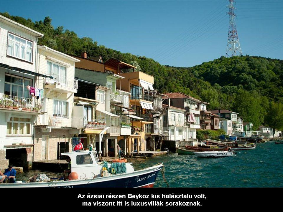 Yeniköy, bizánci gyökerekkel bíró falu, telis-tele XIX. századi villákkal.