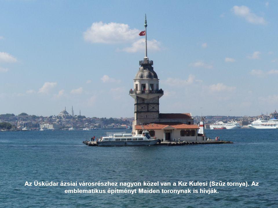 Az Üsküdar ázsiai városrészhez nagyon közel van a Kız Kulesi (Szűz tornya).