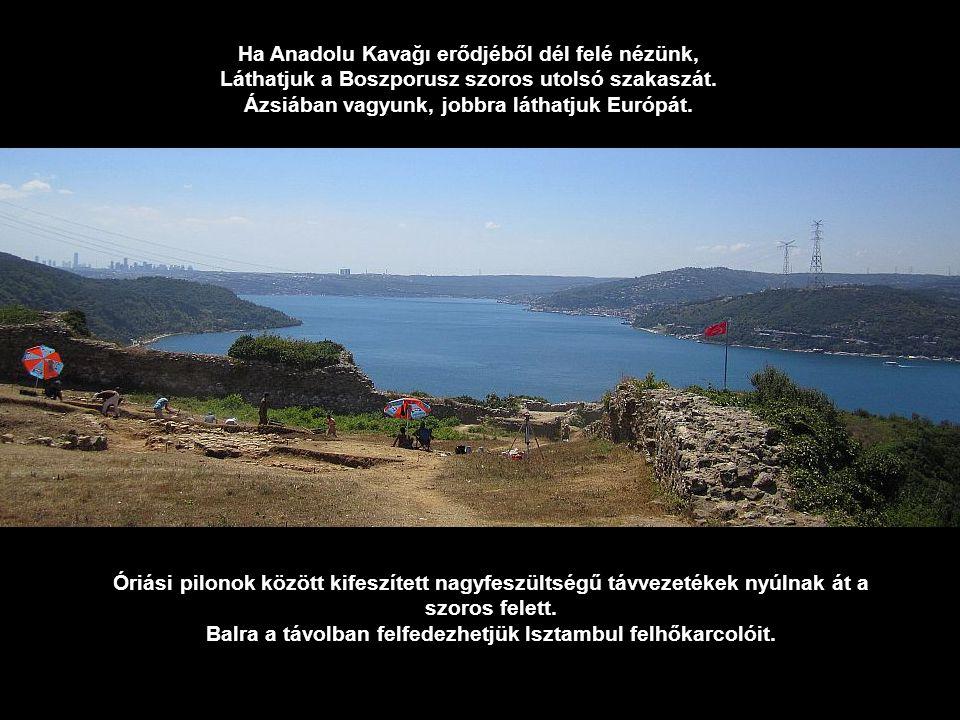 Anadolu Kavağı Kalesi, a domb tetején emelt erőd.