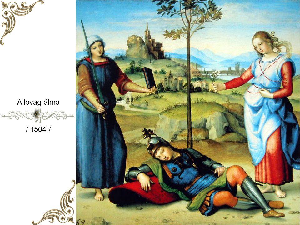 Rafaello Sanzio Született: Urbino 1483 Elhunyt: Róma 1520 Reneszánszkori festő és építész volt. Apja: Giovanni Santi festő volt. 11 – évesen 1494 – be