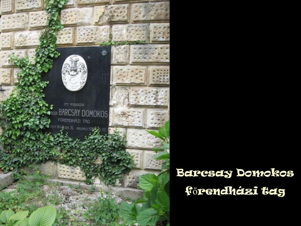 Barcsay Domokos f ő rendházi tag