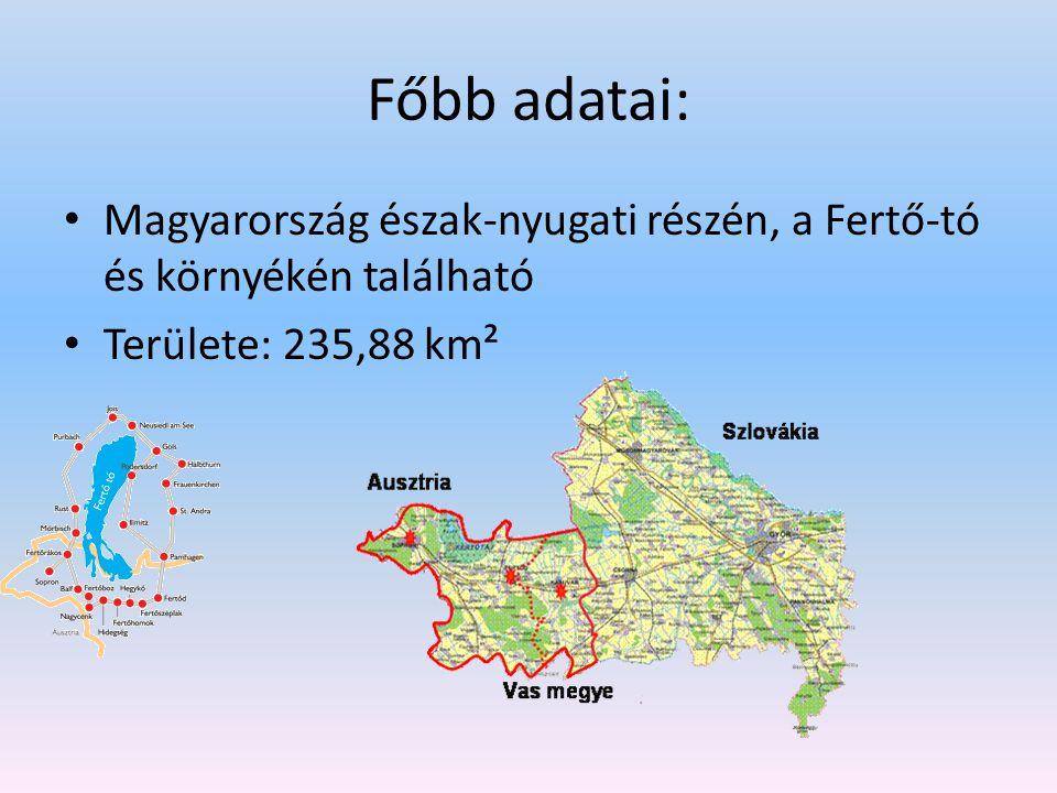 Főbb adatai: Magyarország észak-nyugati részén, a Fertő-tó és környékén található Területe: 235,88 km²