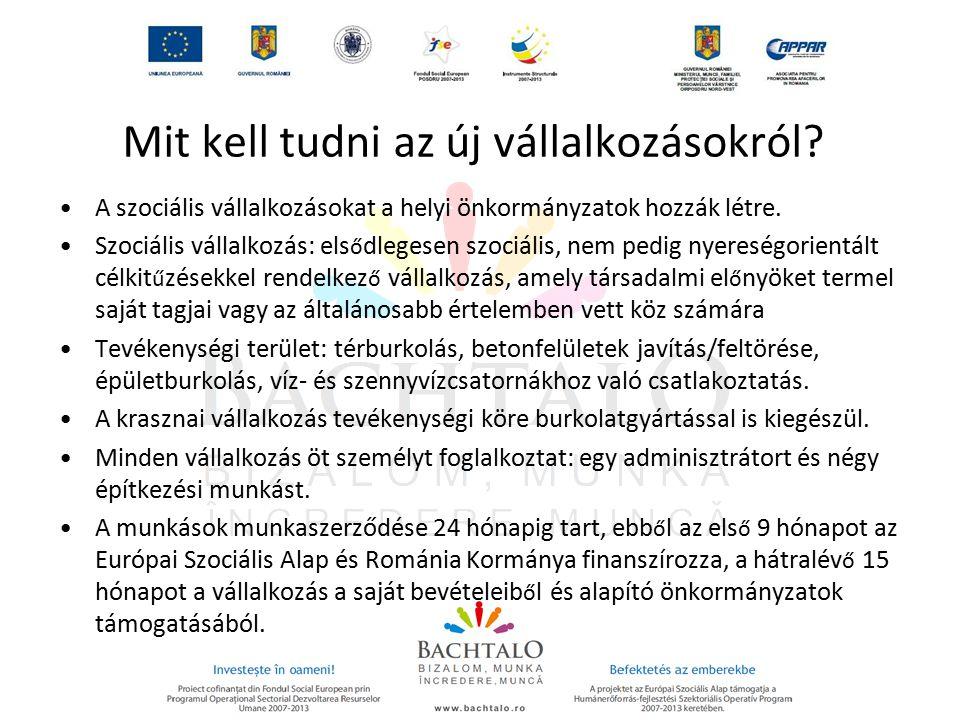 A projekt arculata A projekt szlogenje: Bachtalo – Bizalom, munka A szlogen üzenete: hogy a helyi közösség és az önkormányzat felel ő sséget vállal a roma közösségért, ezt úgy teszi, hogy munkát biztosít a tagjai számára, illetve támogatást abban, hogy minél több roma lakos munkát vállalhasson, mert a munka mindannyiunk joga és kötelessége.