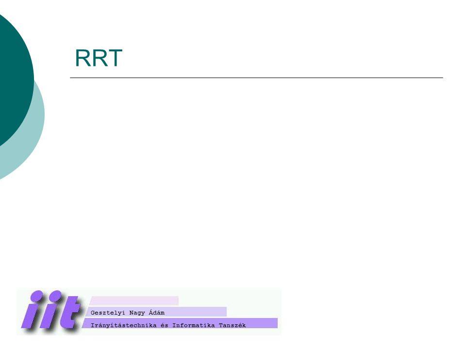 RRT Irányítástechnika és Informatika Tanszék Gesztelyi Nagy Ádám