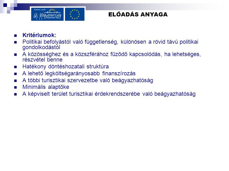 ELŐADÁS ANYAGA Alternatív jogi formák 1.