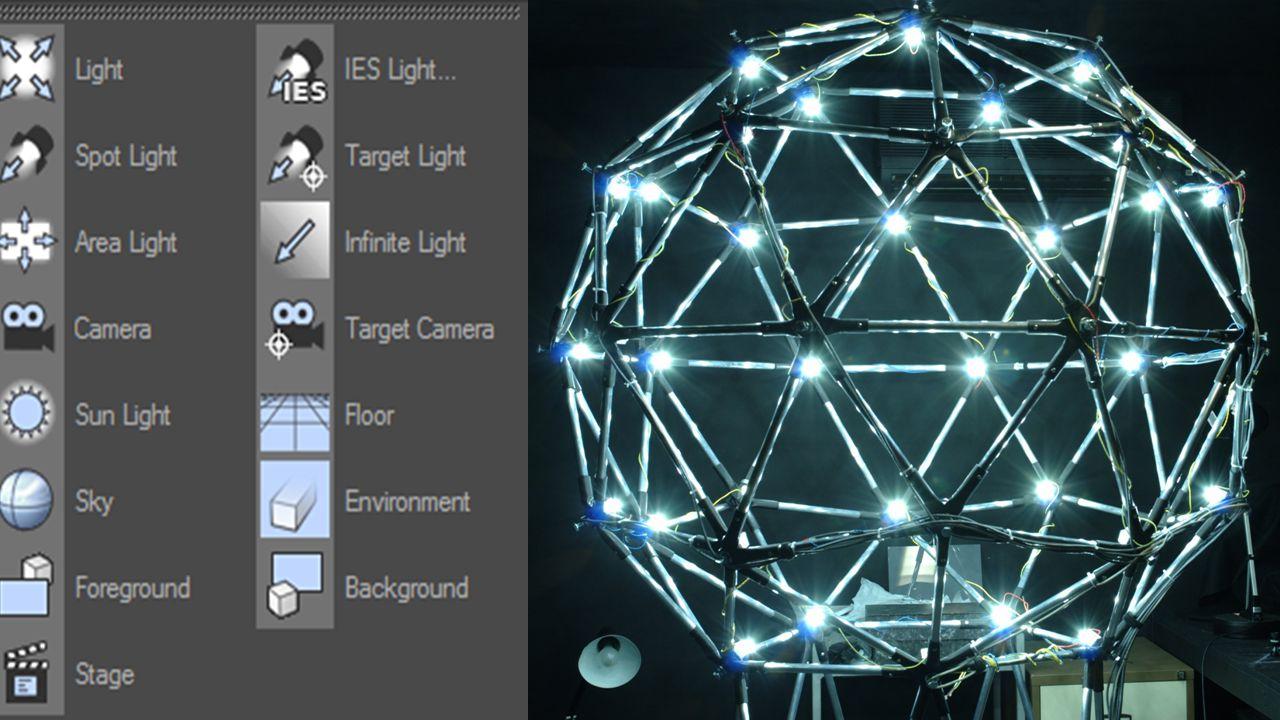 Hogyan állítható a világítás. Többféle lámpa közül választhatunk, spot, area, object, stb.