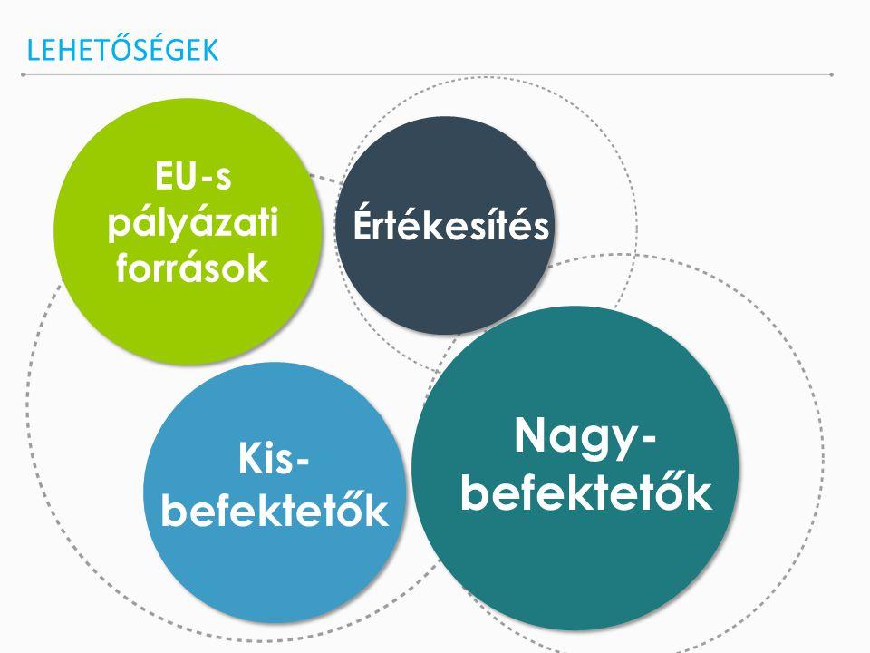LEHETŐSÉGEK EU-s pályázati források Nagy- befektetők Kis- befektetők Értékesítés