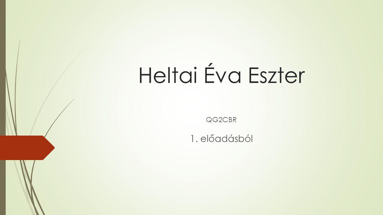 Heltai Éva Eszter QG2CBR 1. előadásból