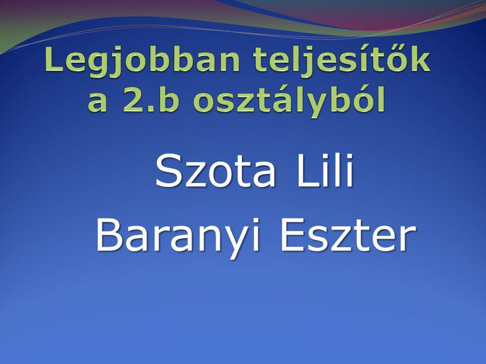 Szota Lili Baranyi Eszter