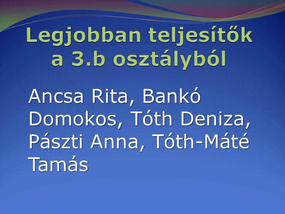 Ancsa Rita, Bankó Domokos, Tóth Deniza, Pászti Anna, Tóth-Máté Tamás
