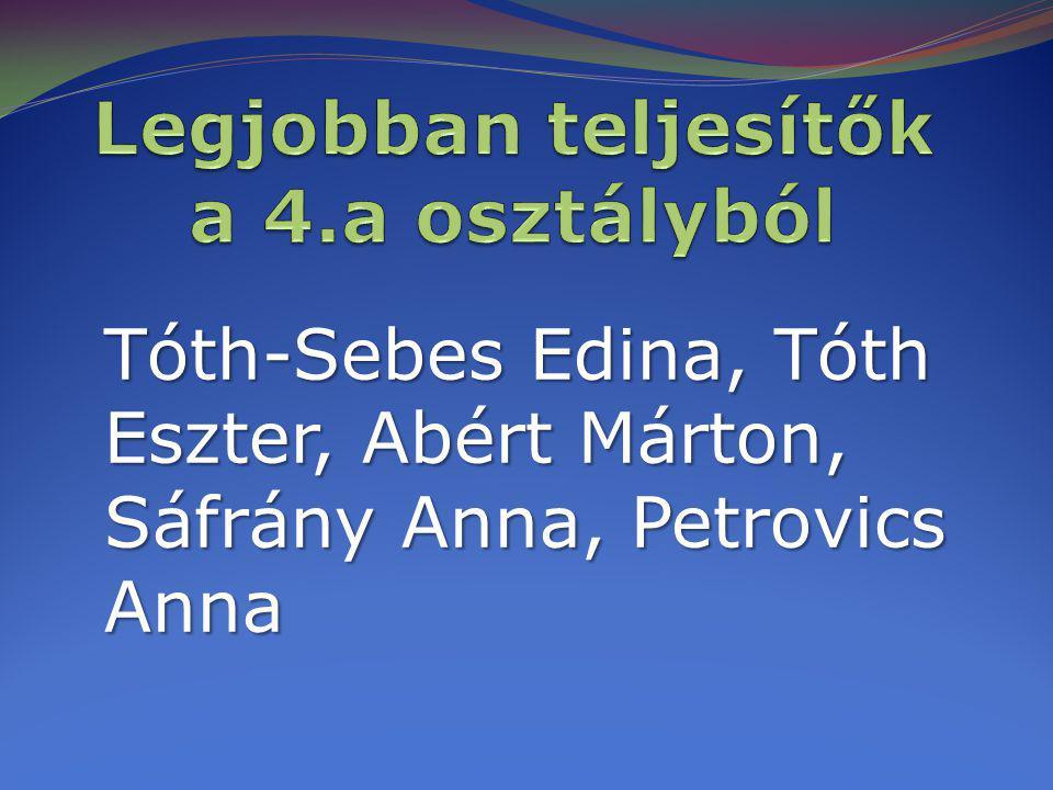 Tóth-Sebes Edina, Tóth Eszter, Abért Márton, Sáfrány Anna, Petrovics Anna