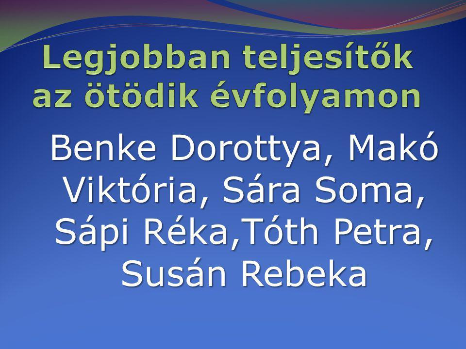 Benke Dorottya, Makó Viktória, Sára Soma, Sápi Réka,Tóth Petra, Susán Rebeka