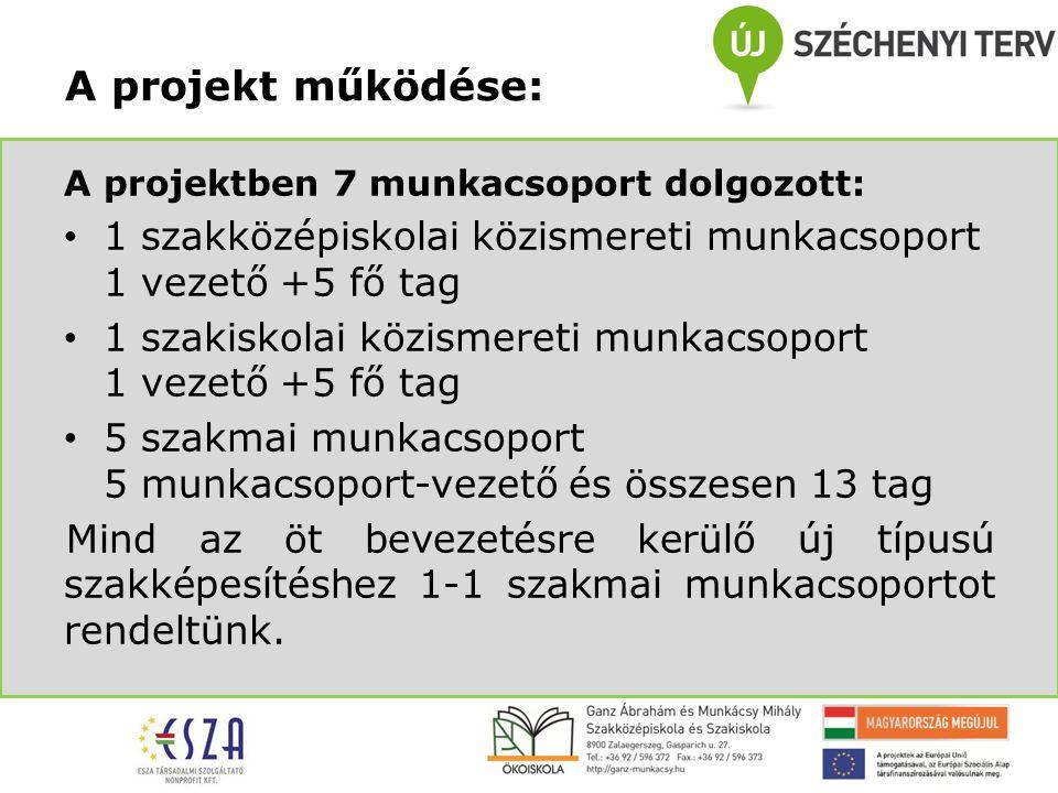 1.Projekt előkészítő szakaszában: Szükségletfelmérés/helyzetfeltárás készítése Iskolai alapdokumentumok módosításának előkészítése Pedagógiai program, szakmai program elkészítése A projekt tevékenységei: